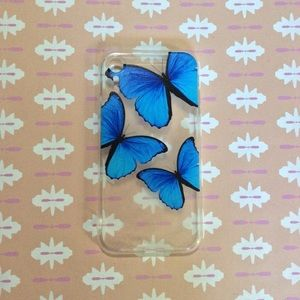 Clear Butterfly Case iPhone XR